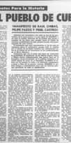 """La imagen puede contener: texto que dice """"Documentos Para la Historia AL PUEBLO DE CUBA donde (MANIFIESTO DE RAUL CHIBAS, FELIPE PAZOS Y FIDEL CASTRO) Seten Carmes"""""""