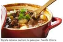 May be an image of food and text that says 'Casera. Receta cubana: puchero de palenque. Fuente: Cocina'