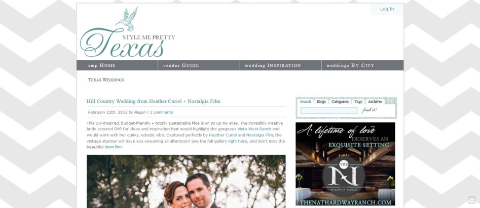 Hill Country Wedding from Heather Curiel + Nostalgia Film