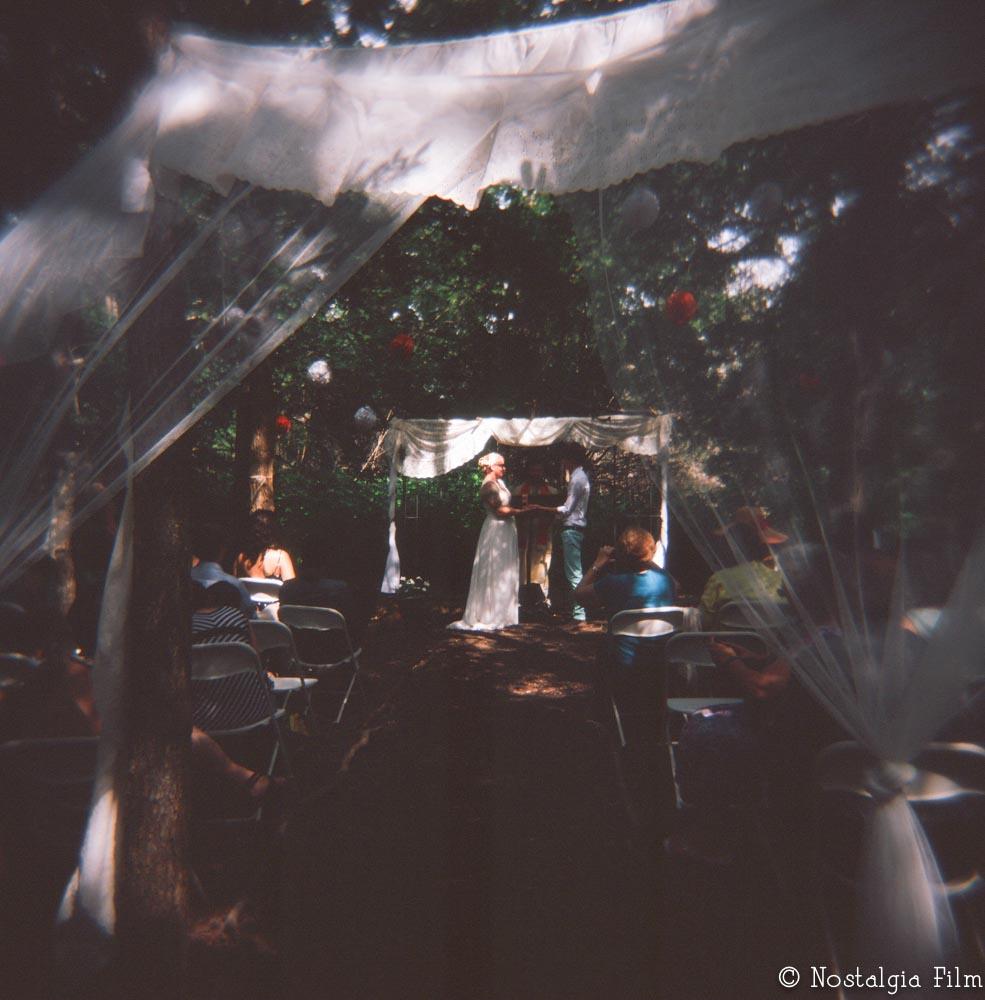 ceremony site in woods