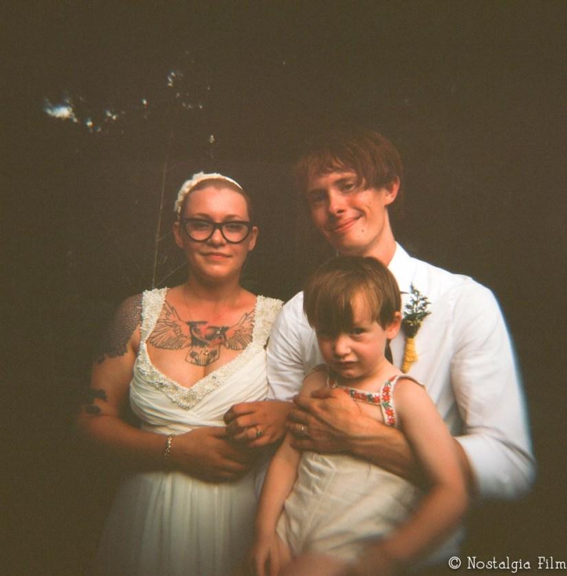 Holga wedding photograph
