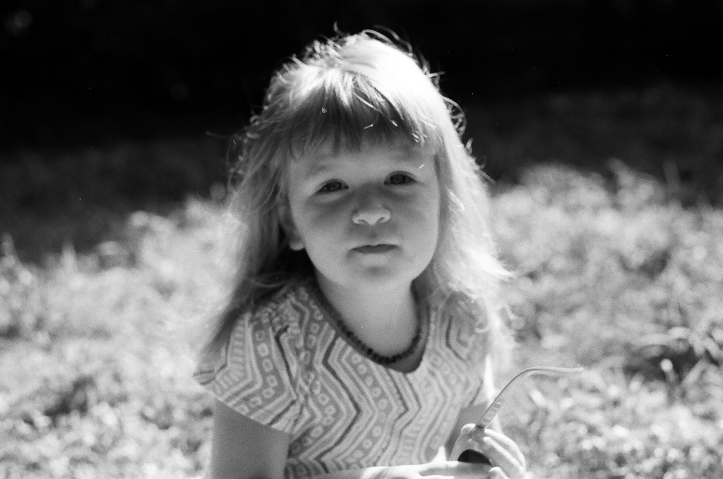 Toddler B&W Film Photography