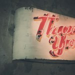 Thank you vintage neon sign