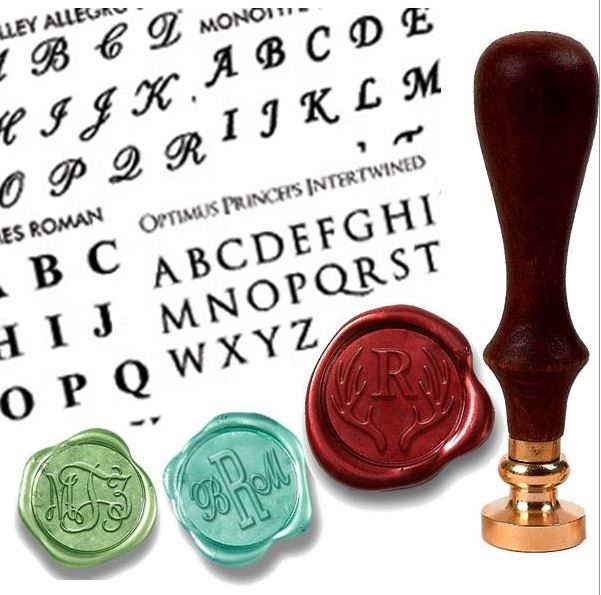 monogram seal stamp