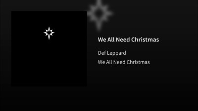 Def Leppard We All Need Christmas Single