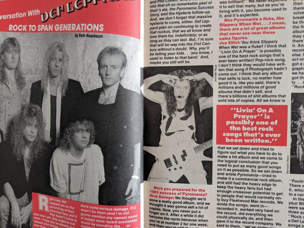 Rock of the 80s Magazine Joe Elliott interview