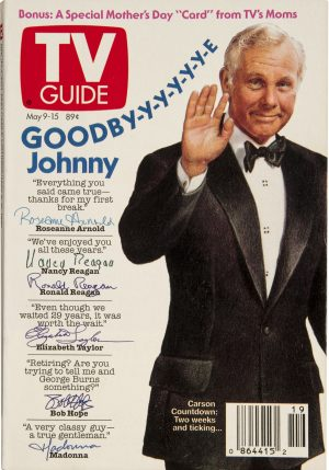 "Wheeeere's Johnny? Late-Night TV Could Definitely Use A Host Like You! (The Tonight Show with Johnny Carson, TV Guide cover ""Goodbye Johnny"")"