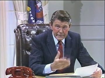 Wheeeere's Johnny? Late-Night TV Could Definitely Use A Host Like You! (The Tonight Show, Johnny Carson as Ronald Reagan)
