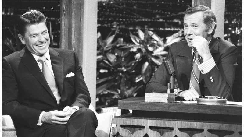 Wheeeere's Johnny? Late-Night TV Could Definitely Use A Host Like You! (The Tonight Show with Johnny Carson, guest Ronald Reagan)
