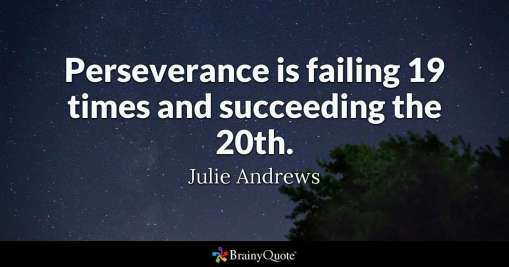 Article: Inspirational stories and tips for job seekers (Perseverance quote from Julie Andrews)