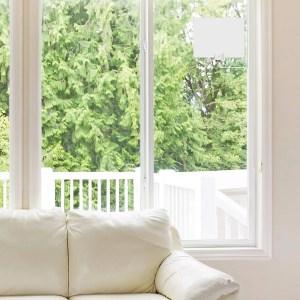Mohu Leaf TV antenna on living room window