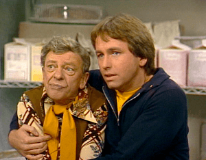 Three's Company episodes: Baby, It's Cold Inside (Furley, Jack locked in freezer)