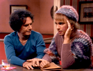 Three's Company Episode: Jack on the Lam (Larry with Jack, who's dressed as Chrissy)
