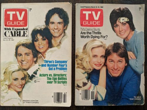 Three's Company TV guide covers