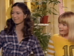 Three's Company Pilot: Suzanne Zenor as Samantha (Chrissy) and Valerie Curtin as Jenny (Janet)