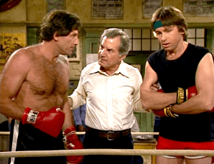 Three's Company Episode: Jack Goes the Distance (boxing match)