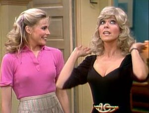 Three's Company Episode: Janet Wigs Out (Janet wearing blonde wig)