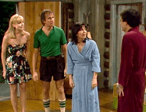 Three's Company episodes: She Loves Me, She Loves Me Not (in cabin)