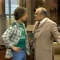 Andy Travis and Mr. Arthur Carlson (Gary Sandy, Gordon Jump), WKRP in Cincinnati