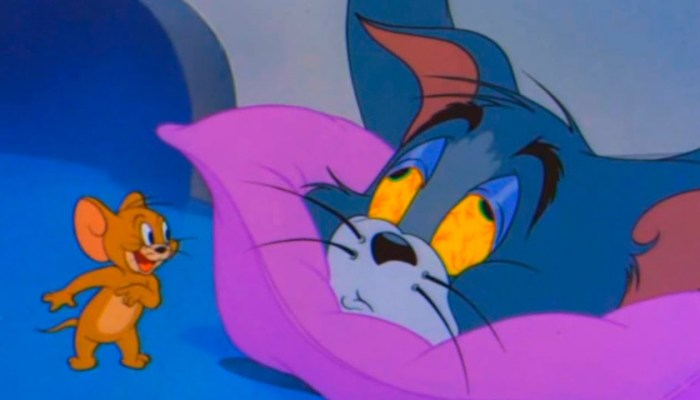 Tom and Jerry cartoon sleepy Tom