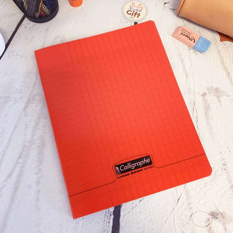 cahier polypro 21x29 7 avec 96 pages gros carreaux seyes calligraphe