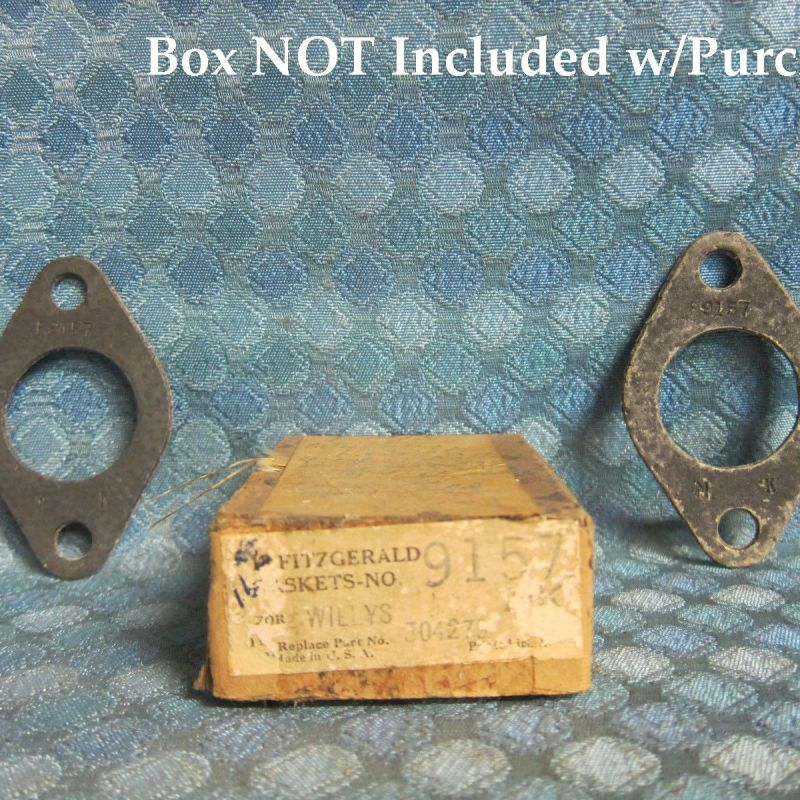 1920-1933 Willys Knight NORS Pair of Carb to Manifold Gaskets 24 26 28 30 SEE AD