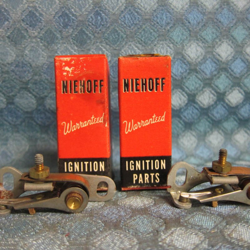 1952-56 Lincoln & Continential, Ford & Mercury V8 NORS Ignition PR of Point Sets