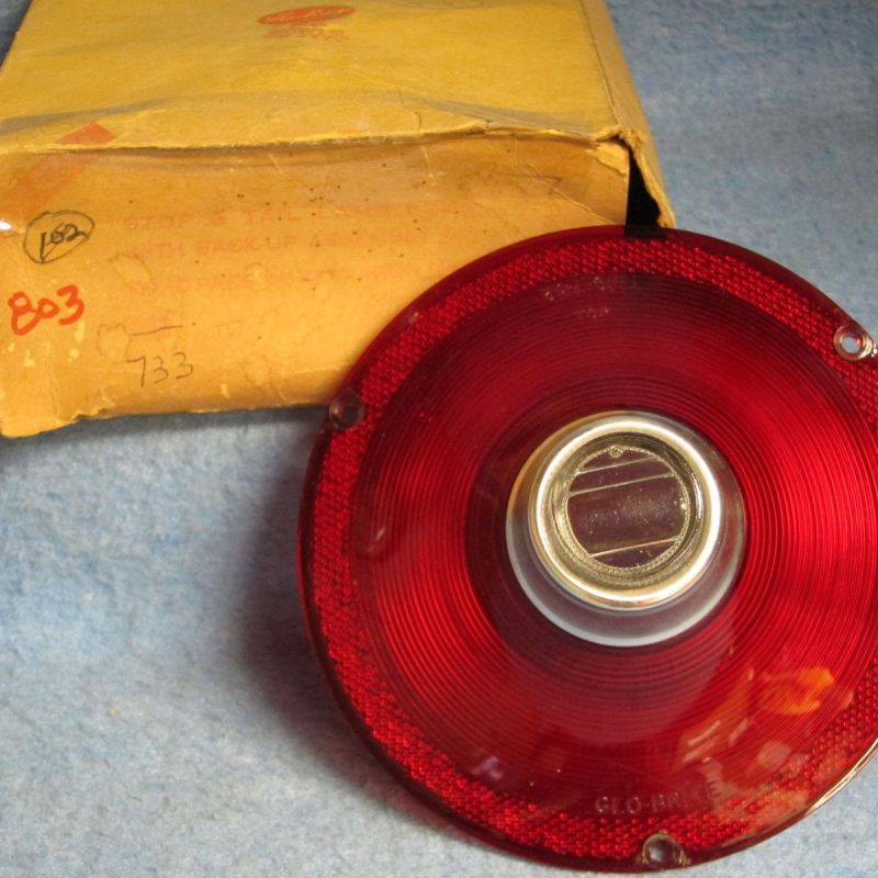 1961 Ford Passenger Tail Lamp Lens w/Back up Lamp NORS Galaxie Fairlane