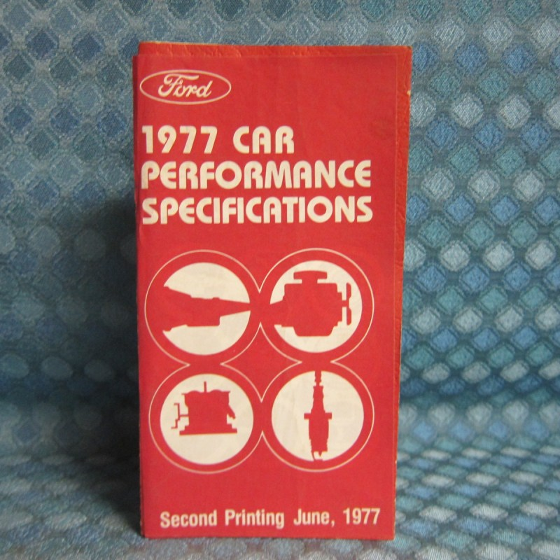 1977 Ford Lincoln Mercury Original OEM Performance Specifications Booklet