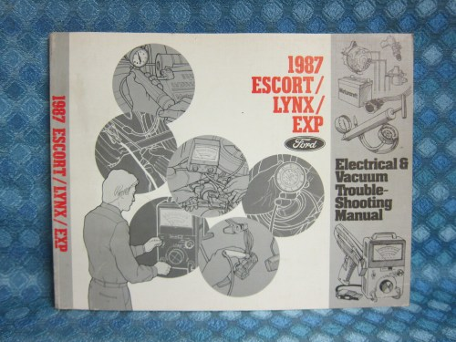 1987 Ford Escort EXP Lynx Original Electrical & Vacuum Troubleshooting Manual
