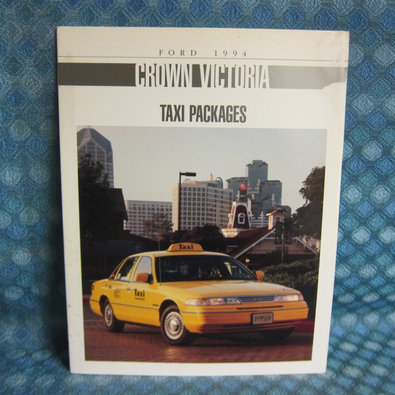 1994 Ford Crown Victoria Taxi Packages Original Sales Brochure
