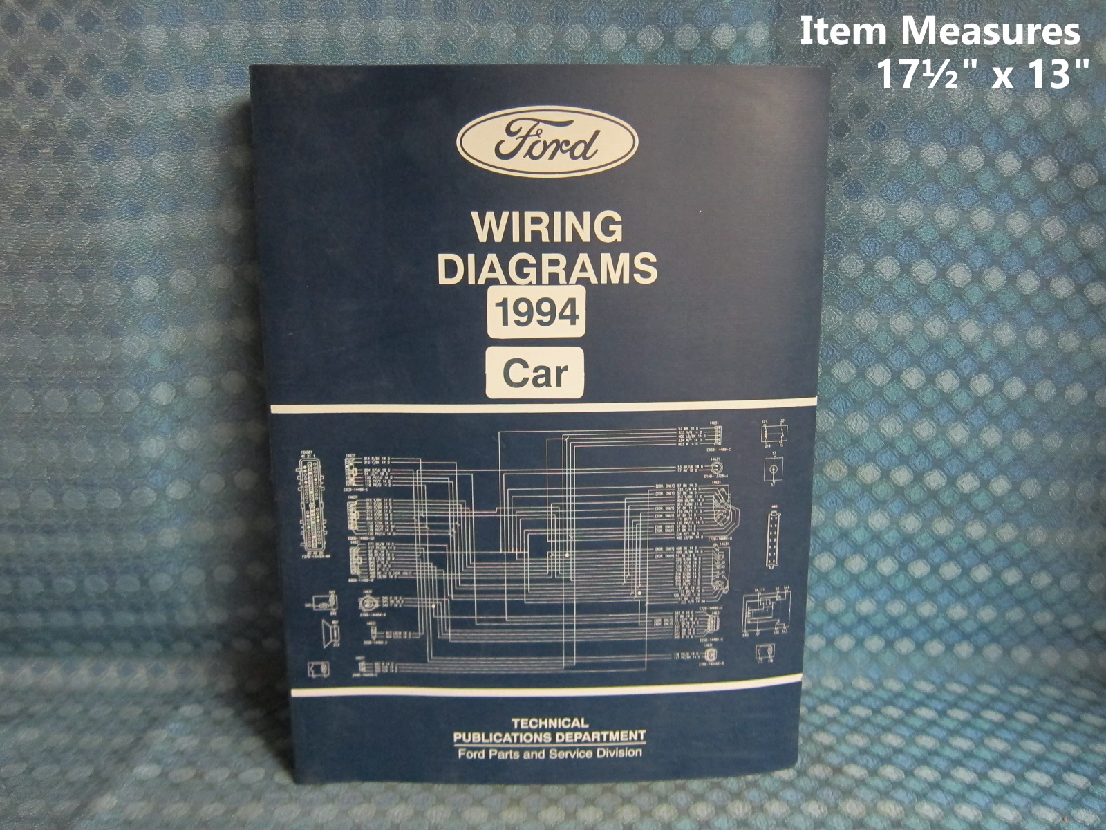 1994 Ford Lincoln Mercury Car Original Wiring Diagrams Manual Mustang Cougar