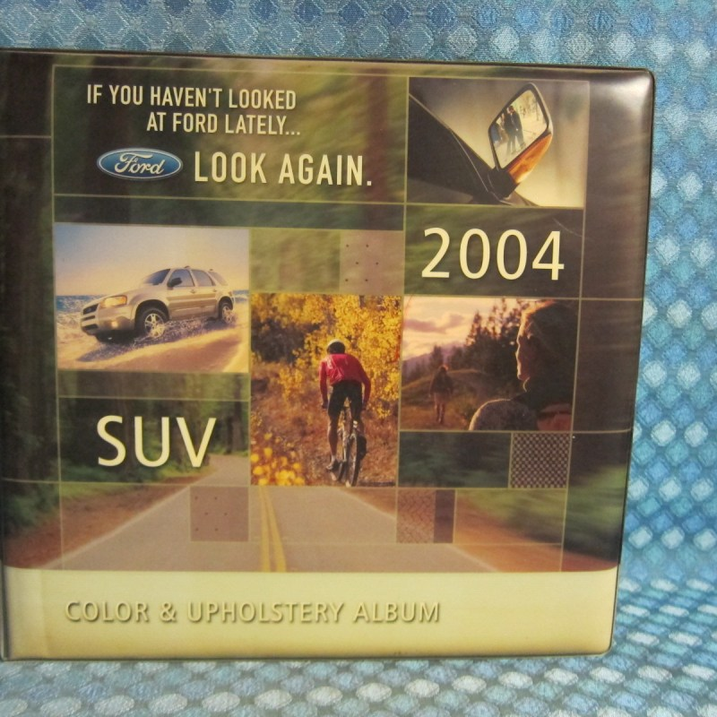 2004 Ford SUV Orig Dealer Color & Upholstery Album Excursion Expedition Explorer