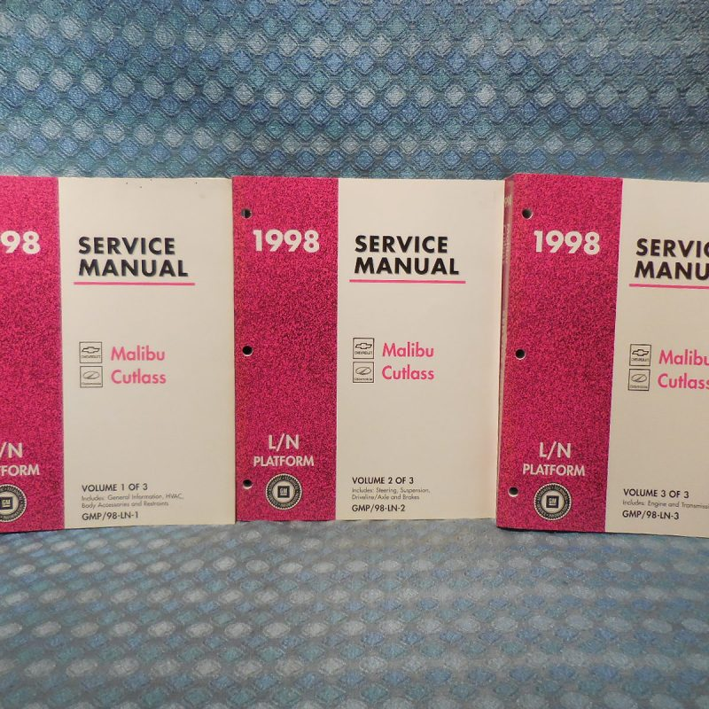 1998 Chevy Malibu & Olds Cutlass Original OEM Service Manuals 2 Volume Set