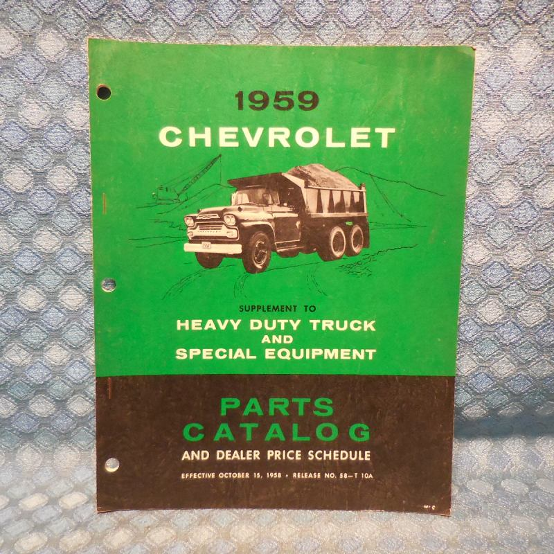 1959 Chevrolet Truck Heavy Duty & Special Equipment Original Parts Catalog Book
