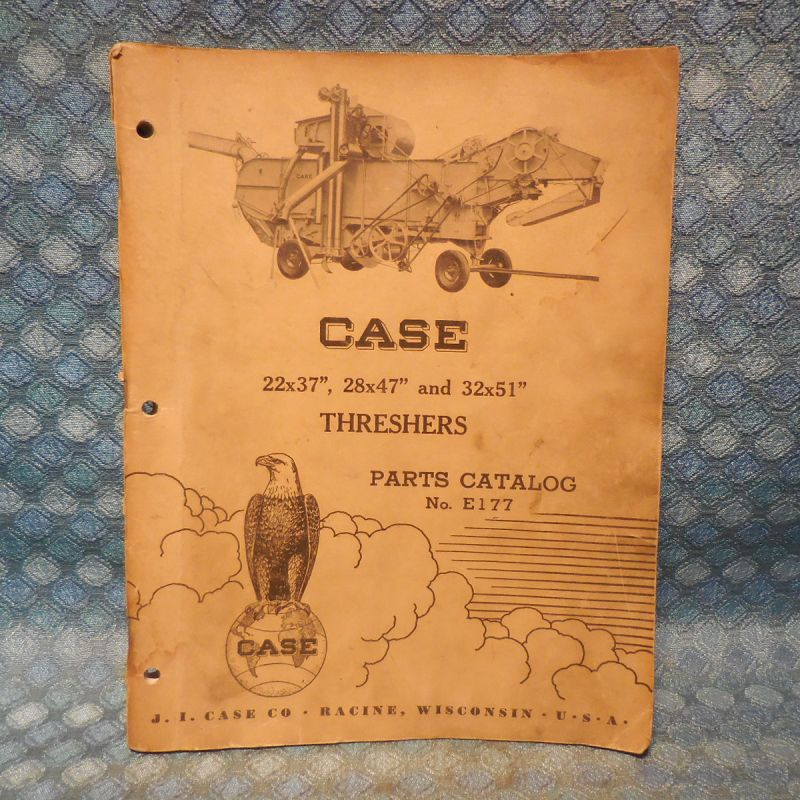"1954-1955 Case Threshers Original Parts Catalog 22X37"" 28X47"" 32X51"""