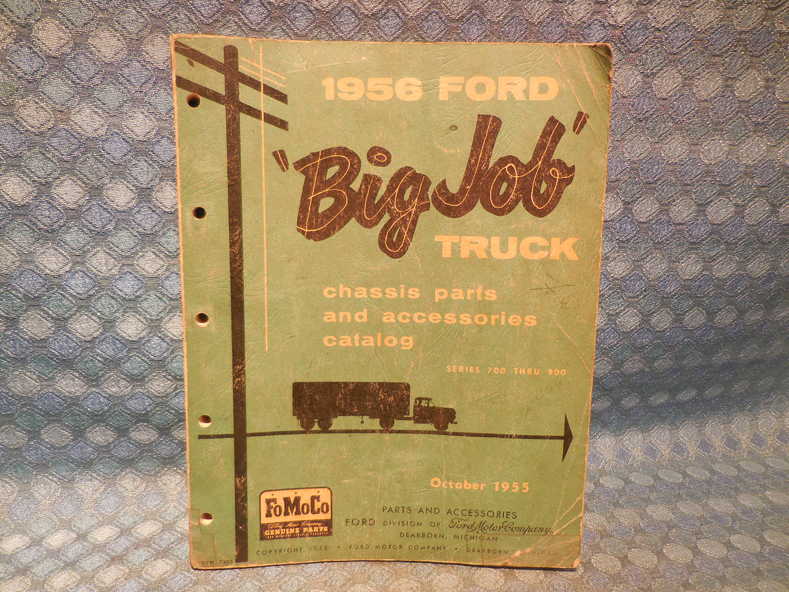 1956 Ford Truck Series 700-900 Original Chassis Parts & Accessories Catalog  - NOS Texas Parts, LLC - Antique Auto Parts