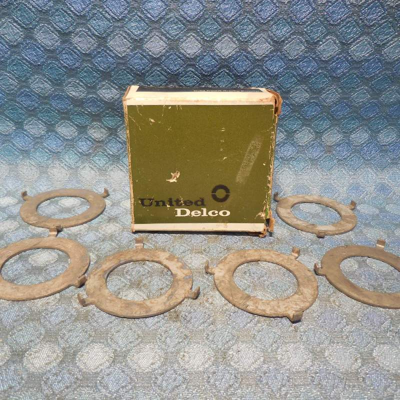 1969-75 GM Box of 6 NOS Trans Output Ring Gear Front Thrust Washers #6261124