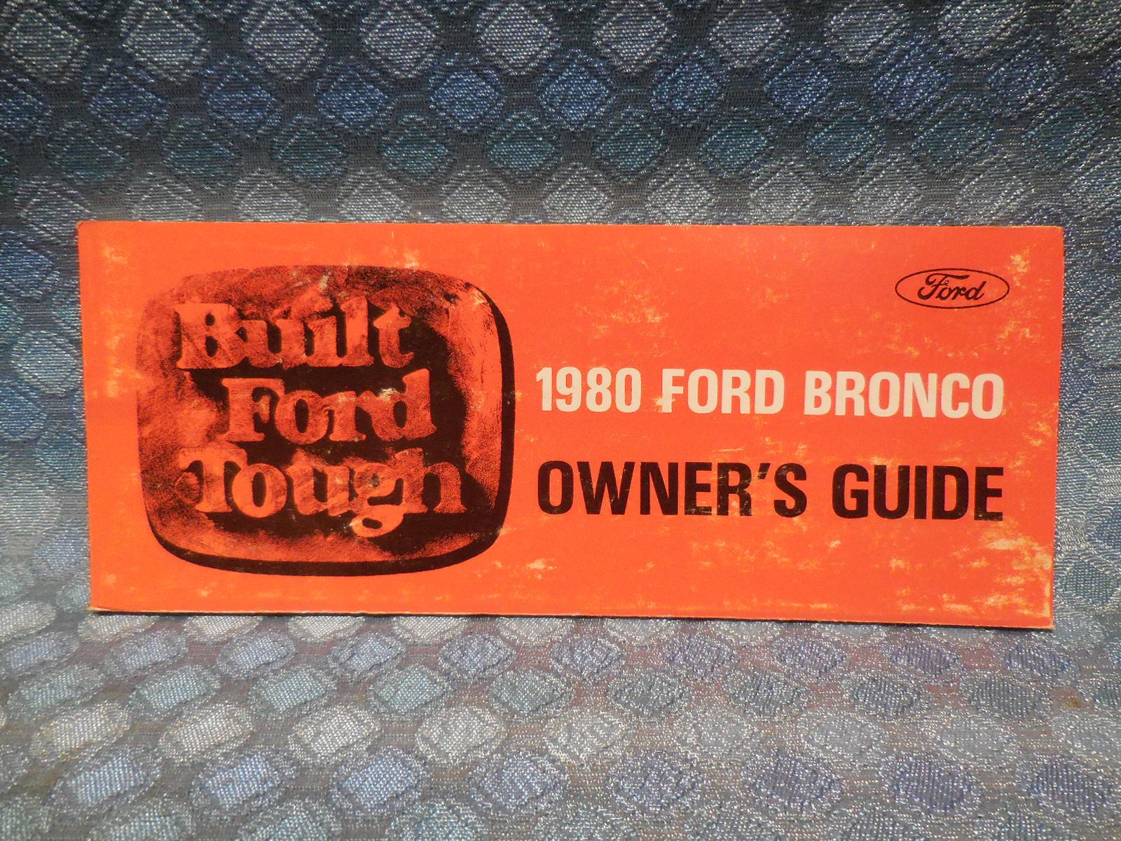 1980 Ford Bronco Nos Owners Manual Texas Parts Llc Antique Carburetor