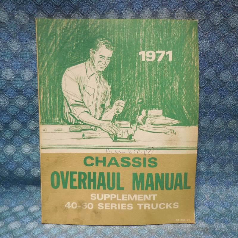 1971 Chevrolet Truck Series 40-60 Original Chassis Overhaul Manual Supplement