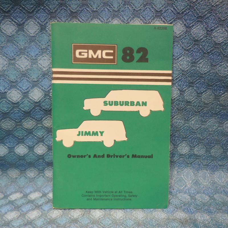 1982 GMC Jimmy & Suburan Original Owners / Drivers Manual
