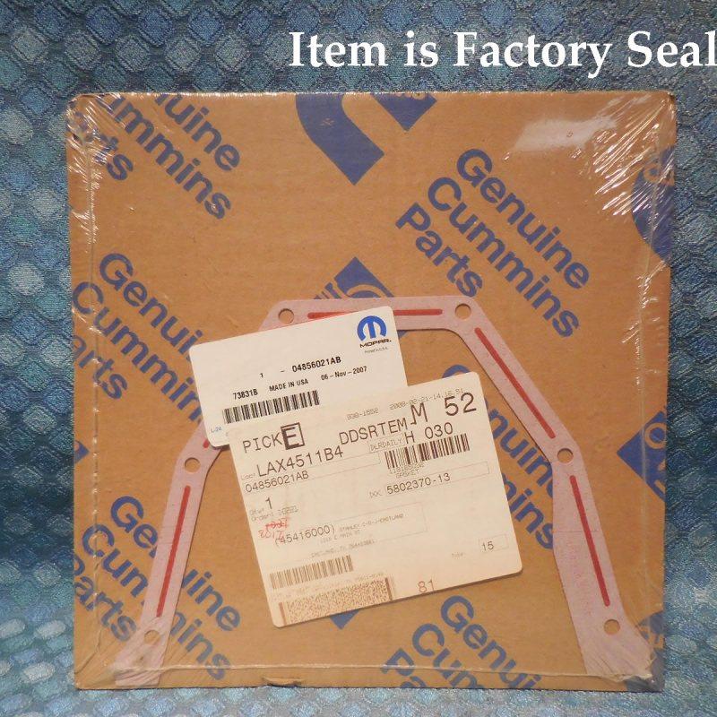 1997-2002 Dodge Ram 2500 New Auto Trans Differential Cover Gasket # 04856021AB