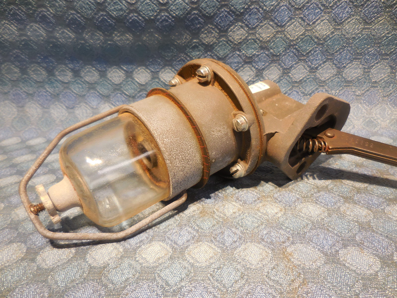 1955 Ford Truck 256 V8 Nors Fuel Pump W Glass Bowl Filter 4210