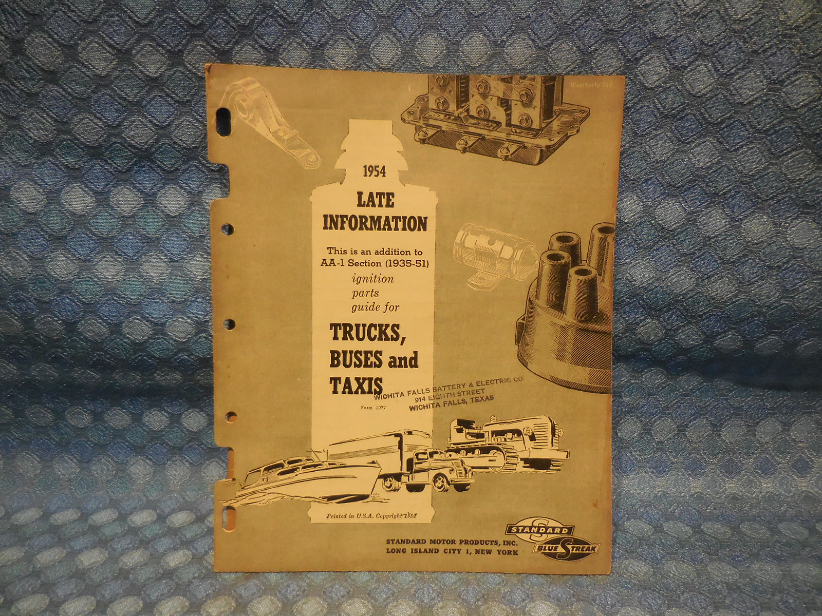 1951-1954 Blue Streak Original Truck Ignition Parts Catalog GMC Ford IHC  Mack Reo – NOS Texas Parts, LLC – Antique Auto PartsNOS Texas Parts, LLC
