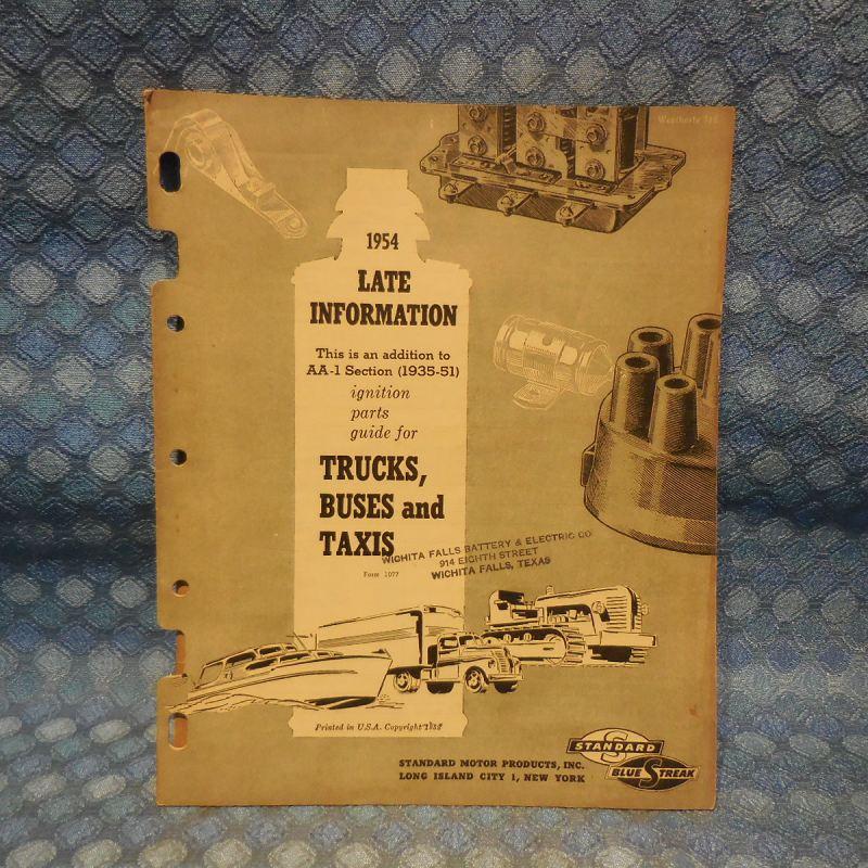 1951-1954 Blue Streak Original Truck Ignition Parts Catalog GMC Ford IHC Mack Reo