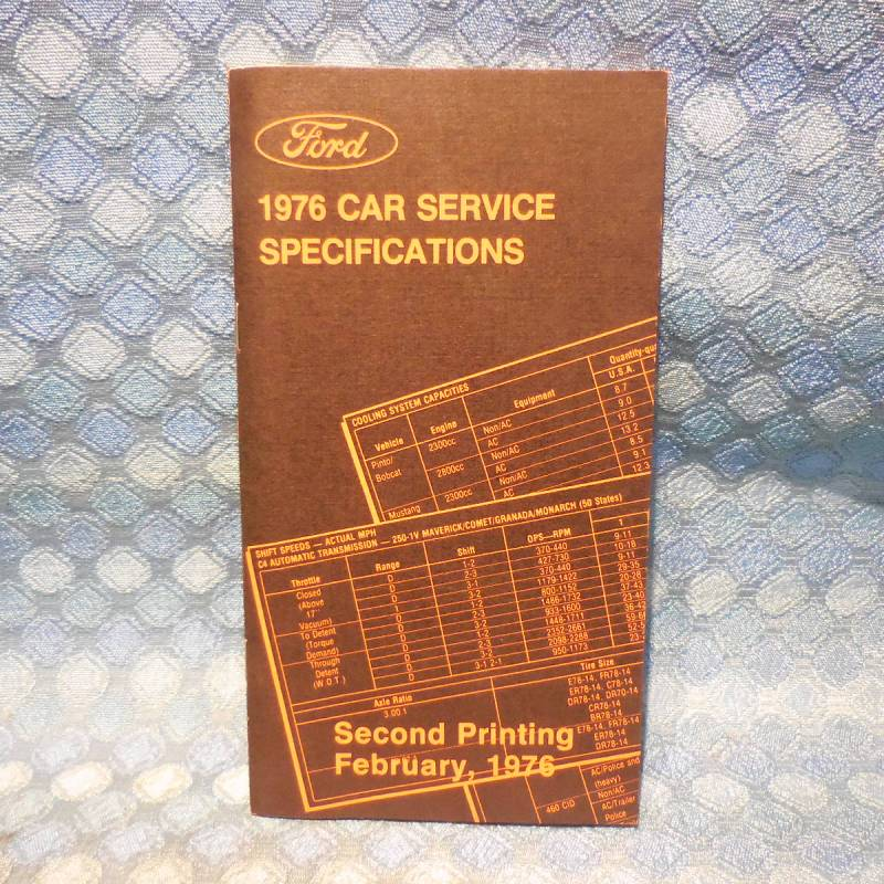 1976 Ford Lincoln Mercury NOS OEM Service Specifications Book Mustang Cougar