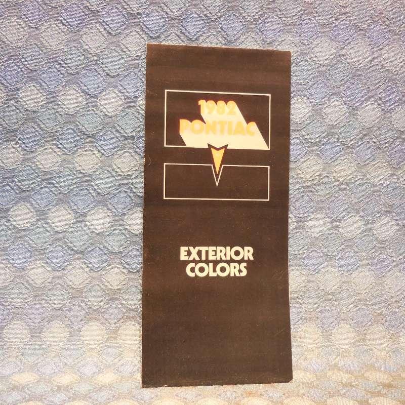 1982 Pontiac Original Exterior Colors Folder Grand Prix Firebird Bonneville
