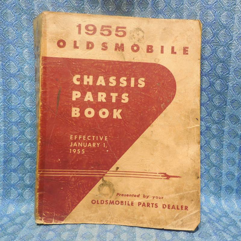 1936-55 Oldsmobile Original Chassis Parts Catalog 38 40 41 48 49 50 51 52 53 54
