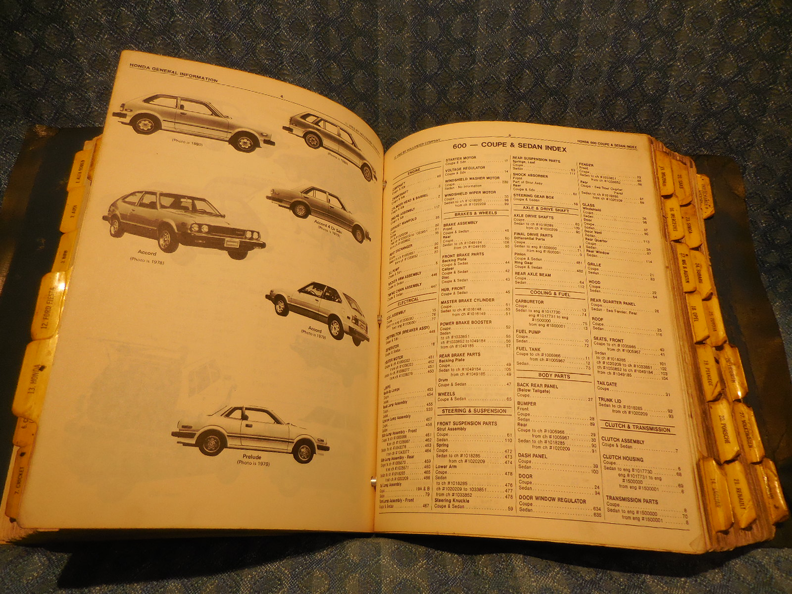1965-1982 Foreign Car Hollander Interchange Manual 6th Edition See Coverage  List