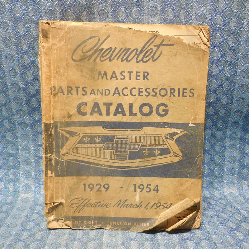 1929-1954 Chevrolet Original Master Parts Catalog 30 32 34 36 38 40 41 48 50 52